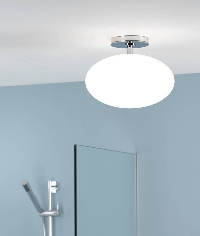 Attractive Bathroom Ceiling Fixtures #14: Bathroom Opal Drop Pendant Height 235mm