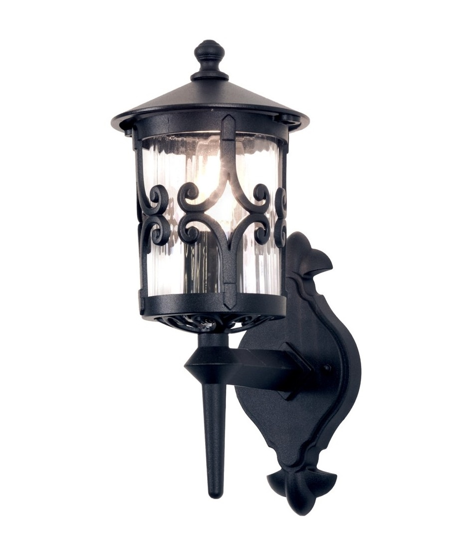Black Ornate Wall Lights : Ornate Iron Exterior Lantern - Up