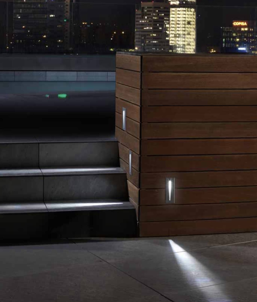 Outdoor Led Recessed Wall Light With An Ip67 Rating