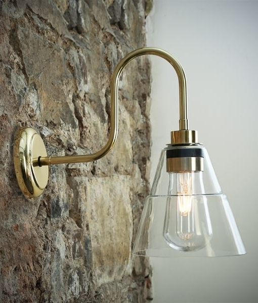 Outdoor Ip54 Wall Mounted Lantern With Glass Shade