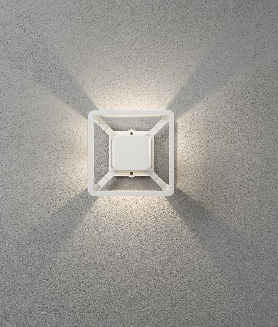Fan Pattern Effect Outdoor Wall Led Light