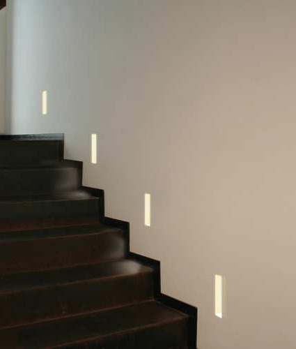 Recessed plaster low level guide light slot shaped design recessed plaster step light slot lightcaster suits any wall construction tap to expand aloadofball Gallery