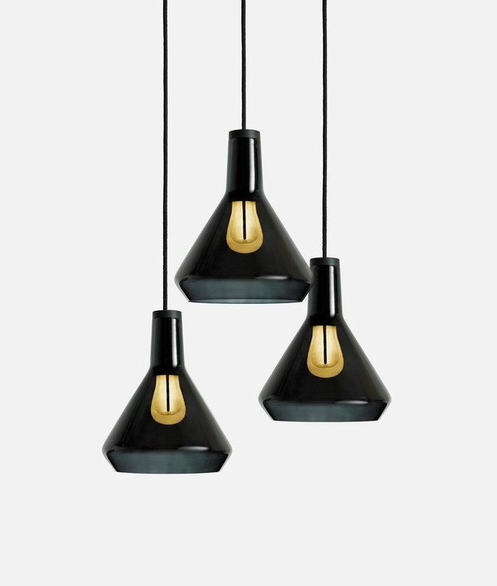 Hand Blown Glass Shade Pendant Kit With Led 002 Lamp