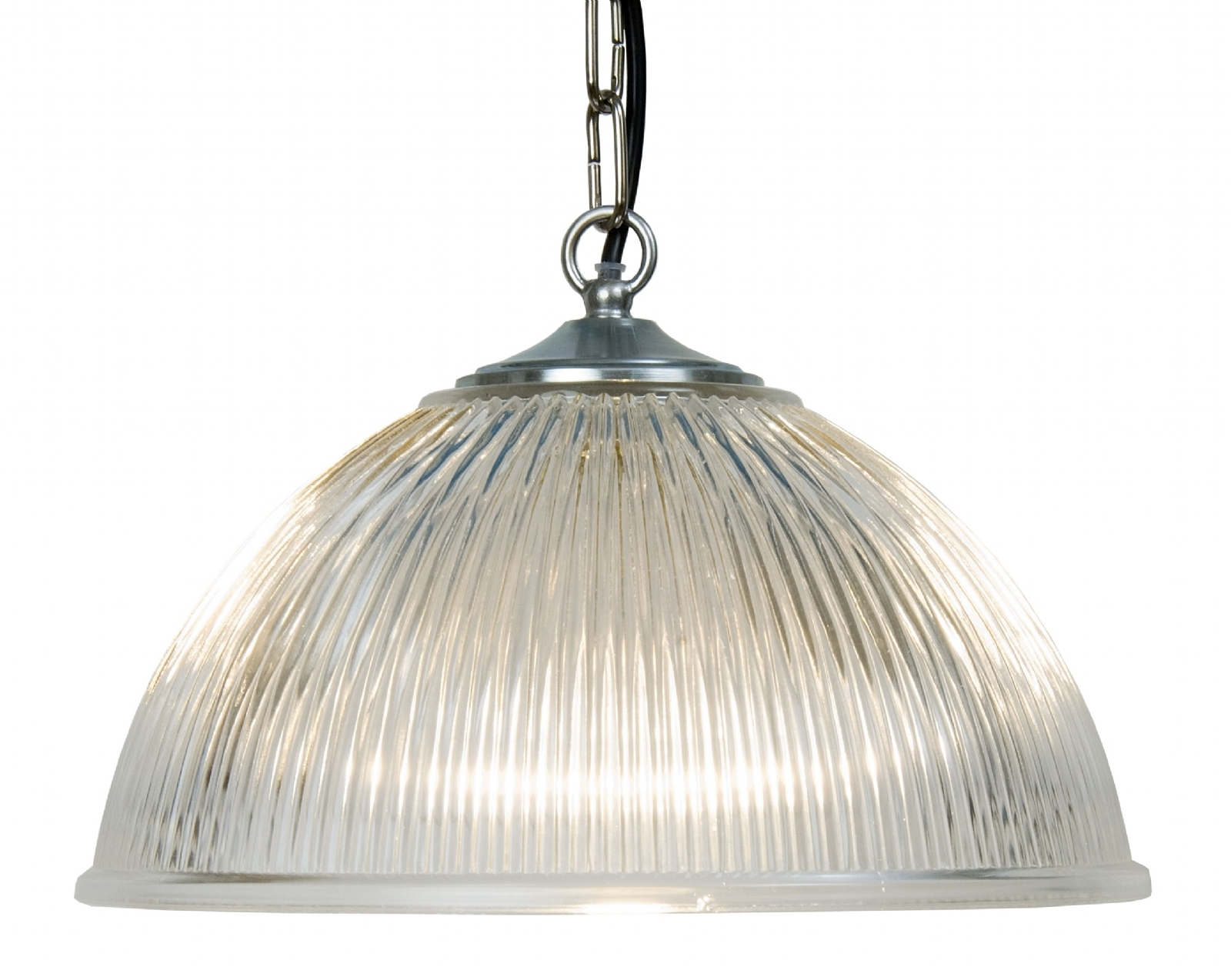 Ribbed glass ceiling light on chain suspension in 2 sizes traditional ribbed glass ceiling light on chain suspension in 2 sizes mozeypictures Gallery