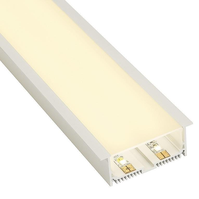 Recessed Aluminium Channel Downlights White