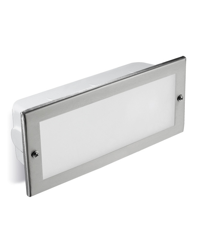Stainless Steel Recessed Brick Light - IP44  sc 1 st  Lighting Styles & IP44 Stainless Steel Recessed Brick Light azcodes.com