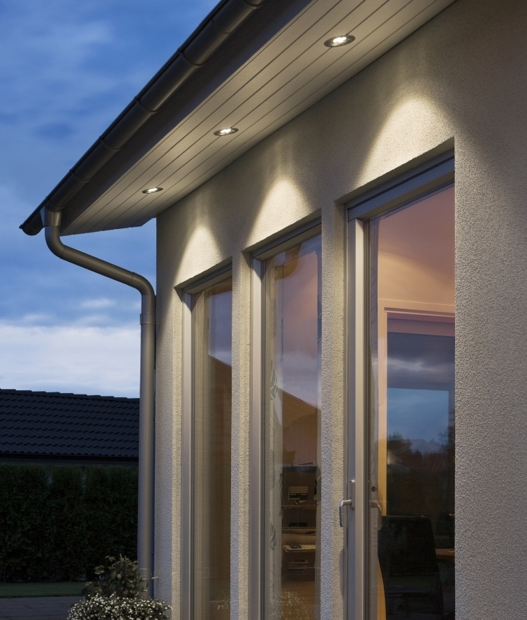 Recessed LED Soffit Light In Aluminium