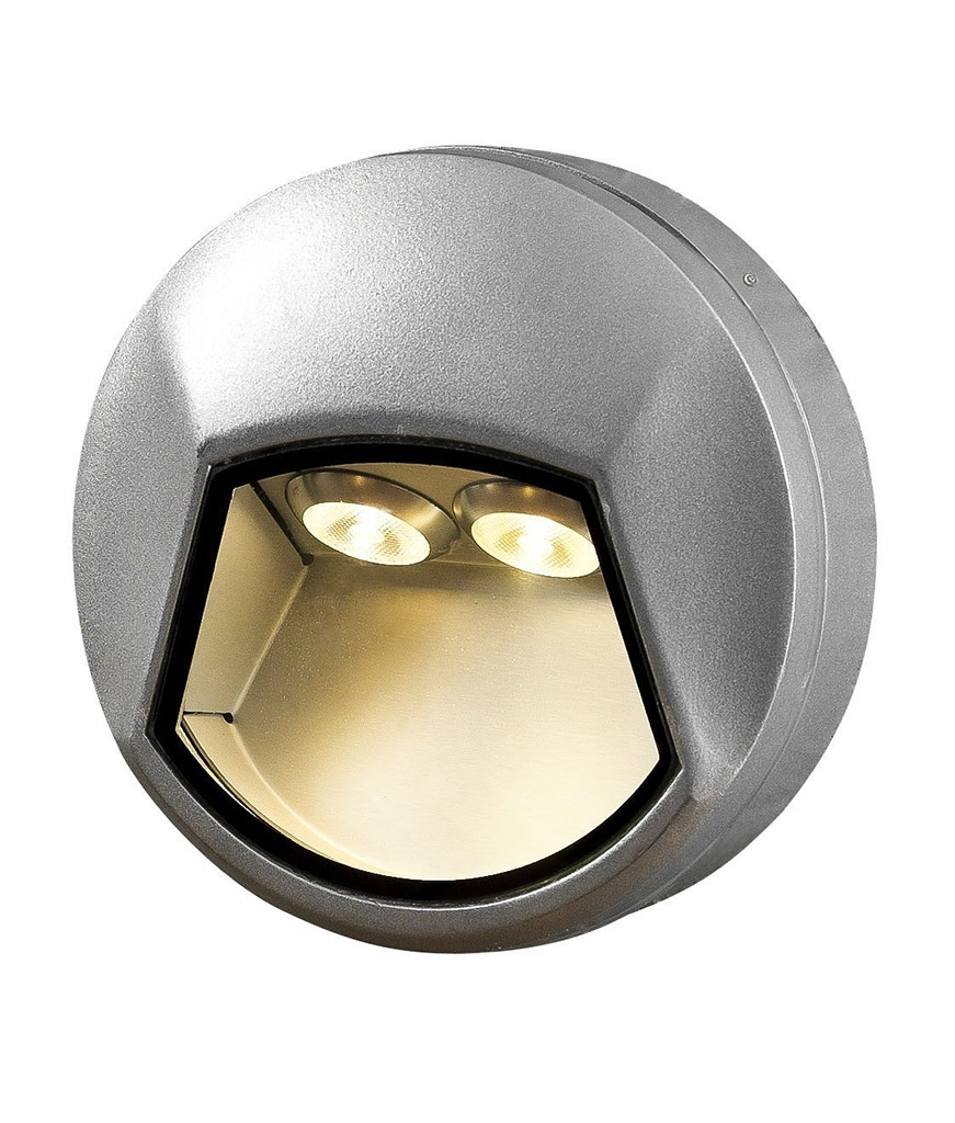 Compact high output surface mounted cast light round or square for Small led landscape lights