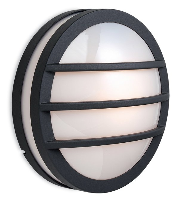 Exterior round light with slats for Round exterior lights