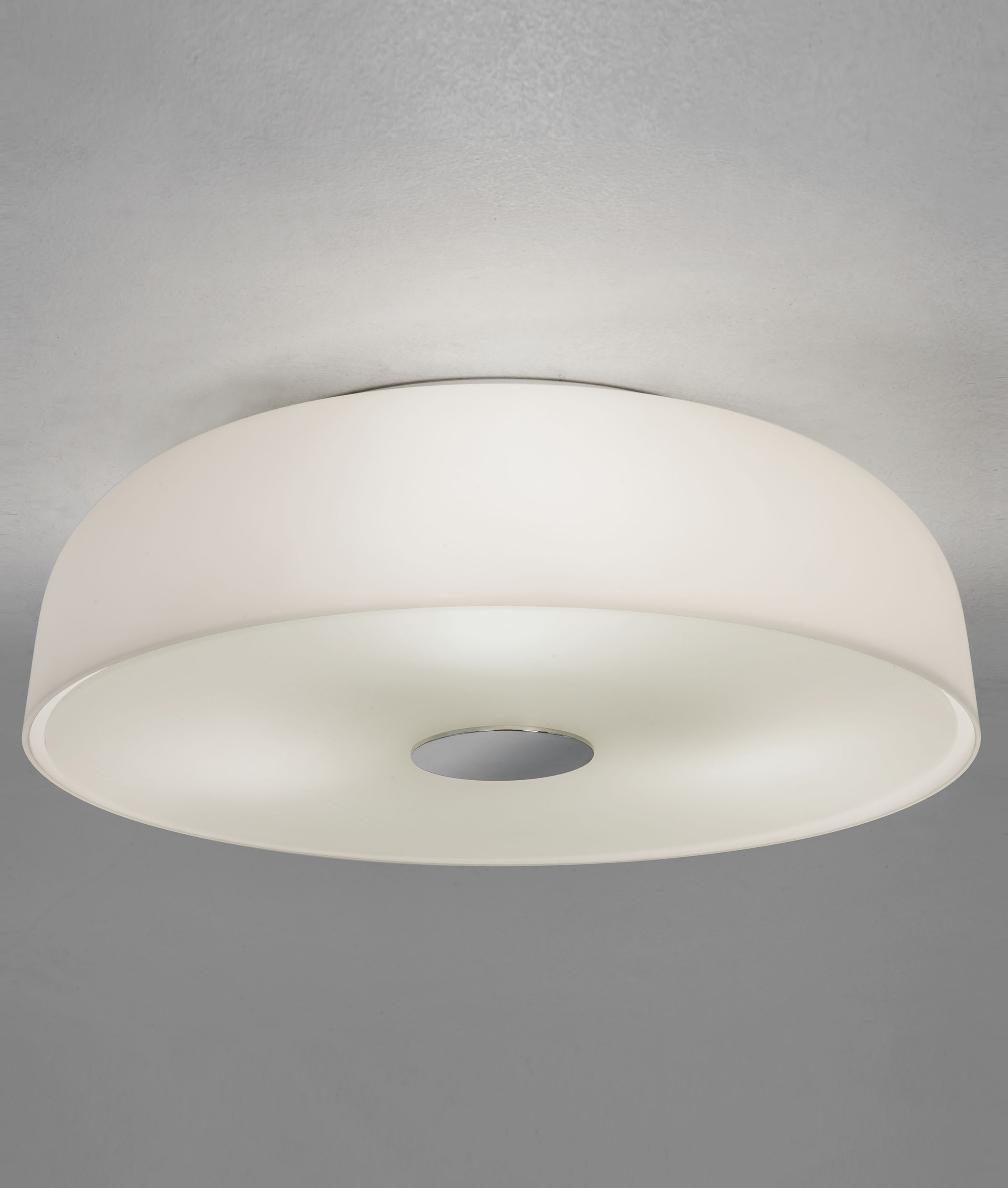 Flush Round Opal Glass Ceiling Light Bathroom Suitable