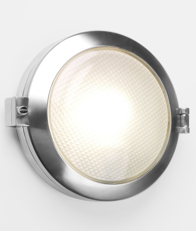 Ip65 polished aluminum round exterior light polished aluminum round outdoor light ip65 rated flush mounted can be used indoors mozeypictures Image collections