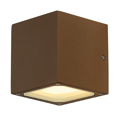 Exterior up and down wall light in a cube shape for Exterior up down wall light