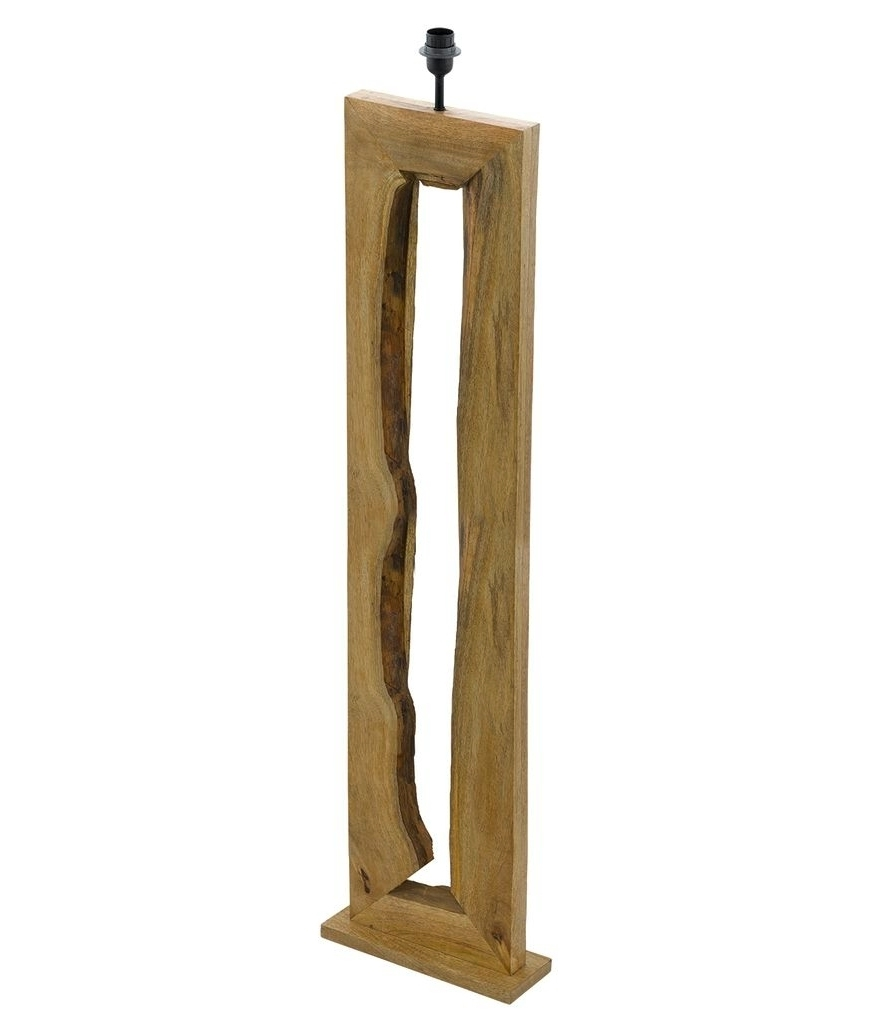 Driftwood Wooden Floor Lamp With Shade