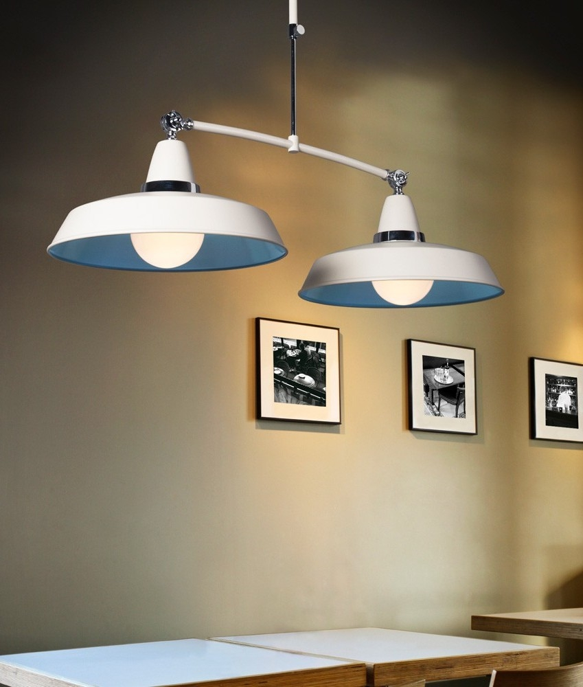 Illuminating Kitchen Lighting: Vintage Style Twin Pendants On A Trapeze Suspension