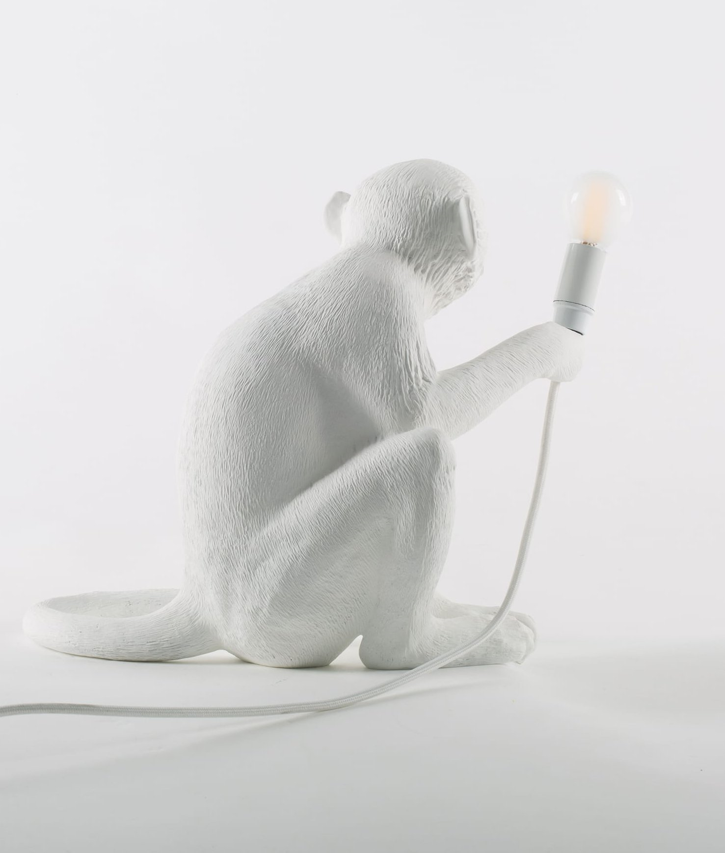 Sitting monkey table light complete with led lamp monkey table light with led lamp mozeypictures