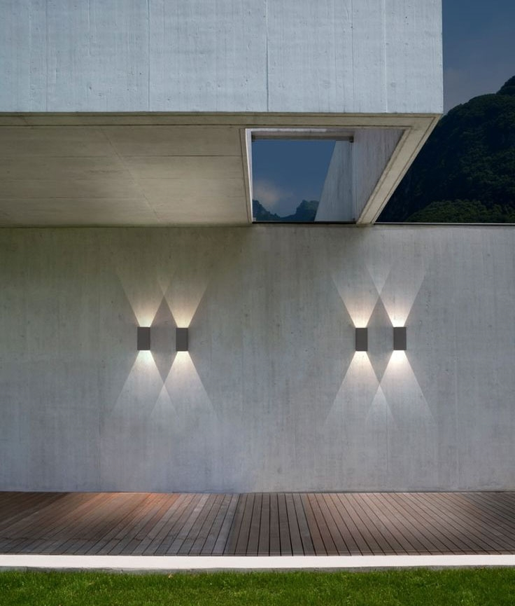 Led Up Amp Down Exterior Ip65 Wall Light With Crisp White