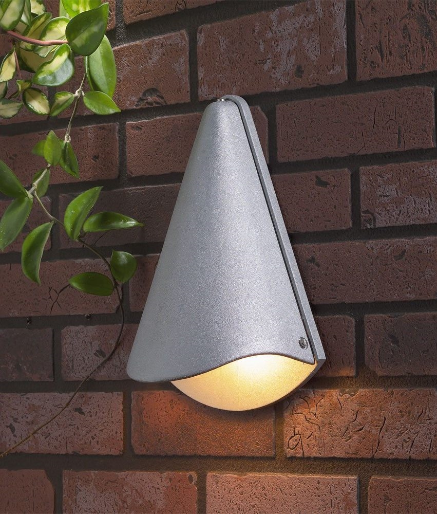 Exterior Lighting: Conical Exterior Wall Light