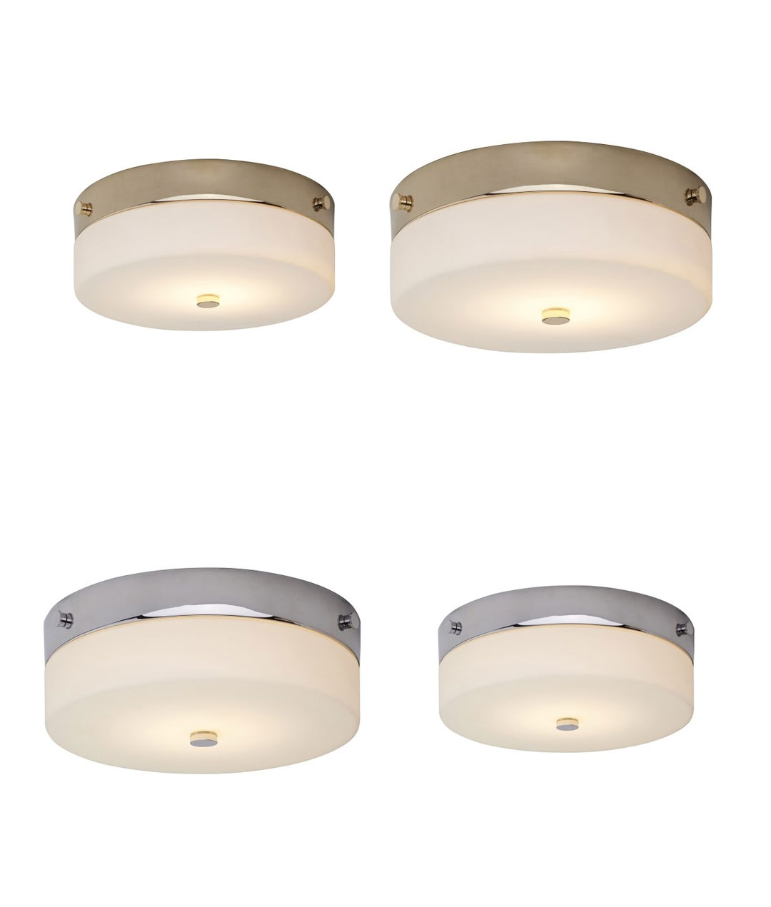 Picture of: Bathroom Semi Flush Ceiling Light Ip44 Rated In Gold Or Chrome