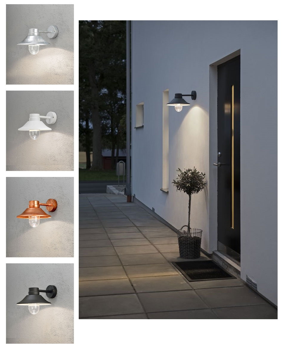 This Led Exterior Bracket Wall Lantern In 4 Finishes