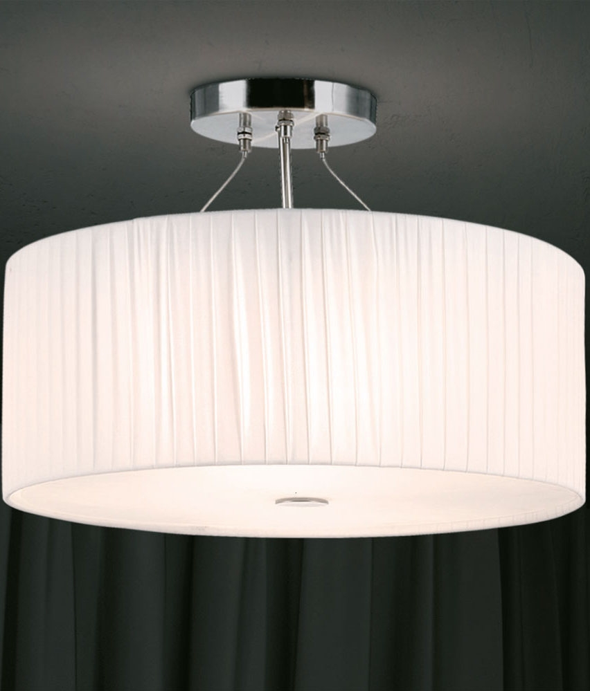 Fabric Shade Semi Flush Fitting