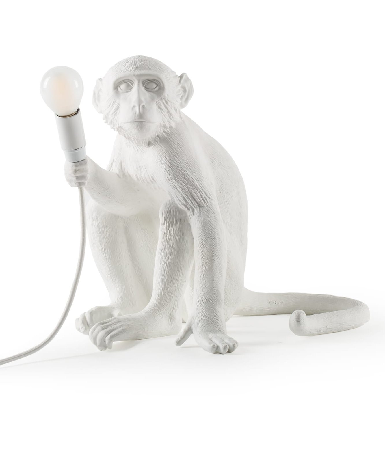 Seletti Sitting Monkey Table Light With Led Lamp