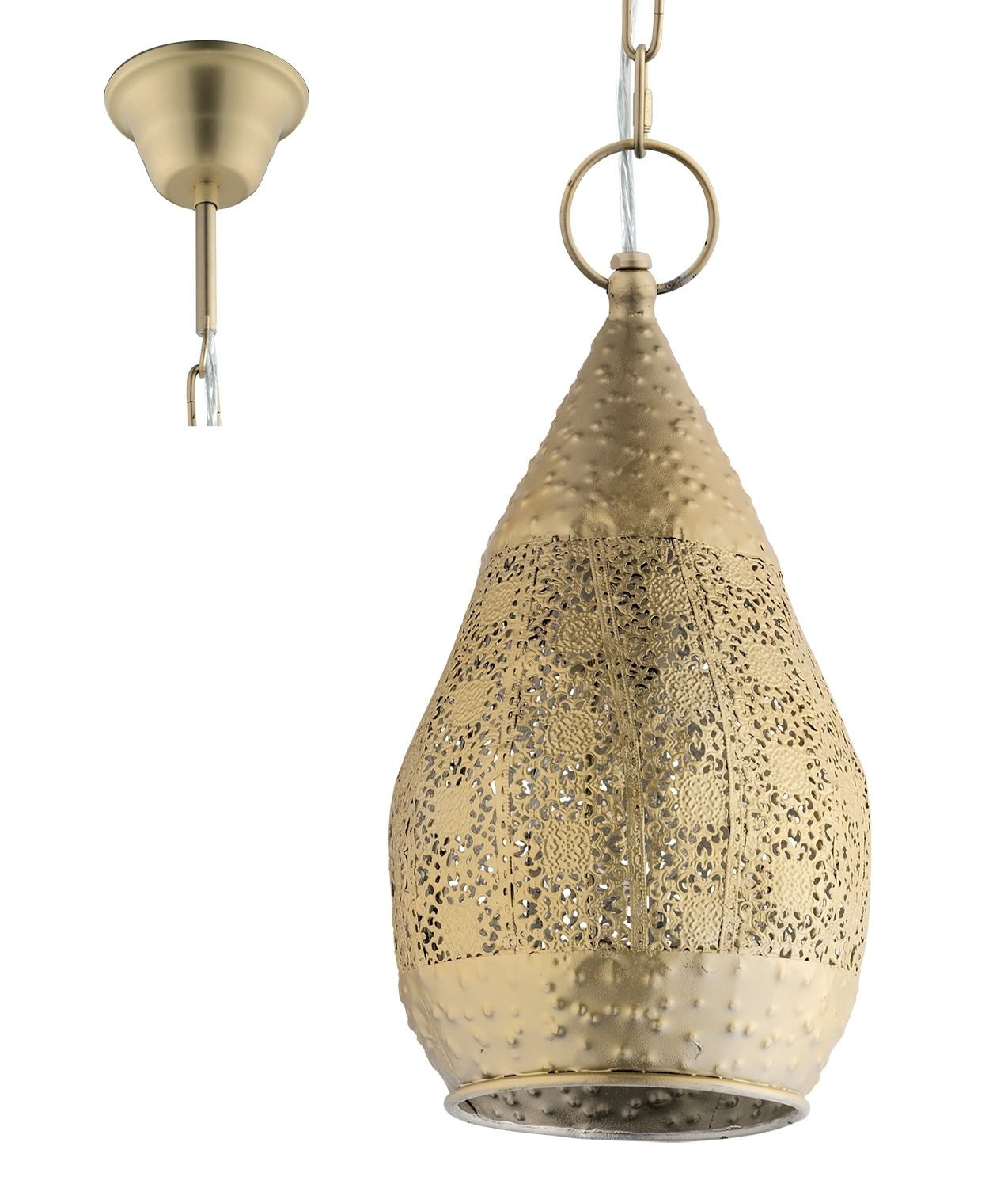 Fretwork Metal Moroccan Pendant Gold Or Silver Finishes