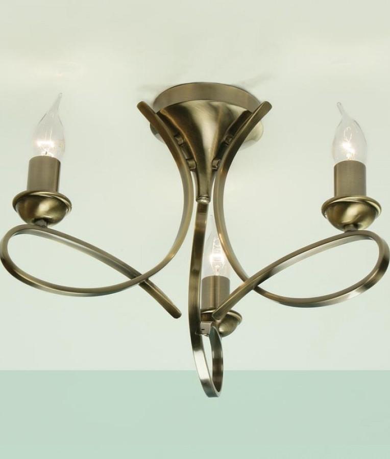 3 Arm Smart Flush Contemporary Ceiling Light