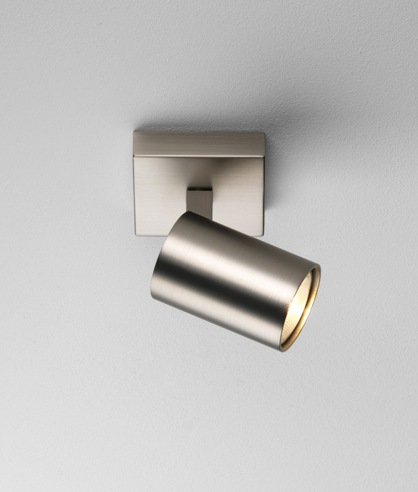 Modern Single Spotlight White Bronze Or Nickel And