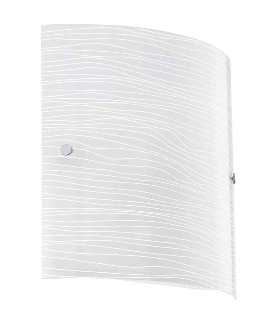 Frosted Glass Wall Light With Striped Pattern