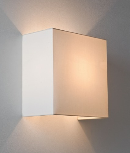 Simple Fabric Tall Wall Light