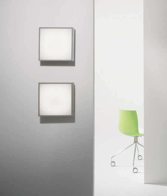 Bathroom Lights Square square bathroom light - wall or ceiling mounted in halogen or led