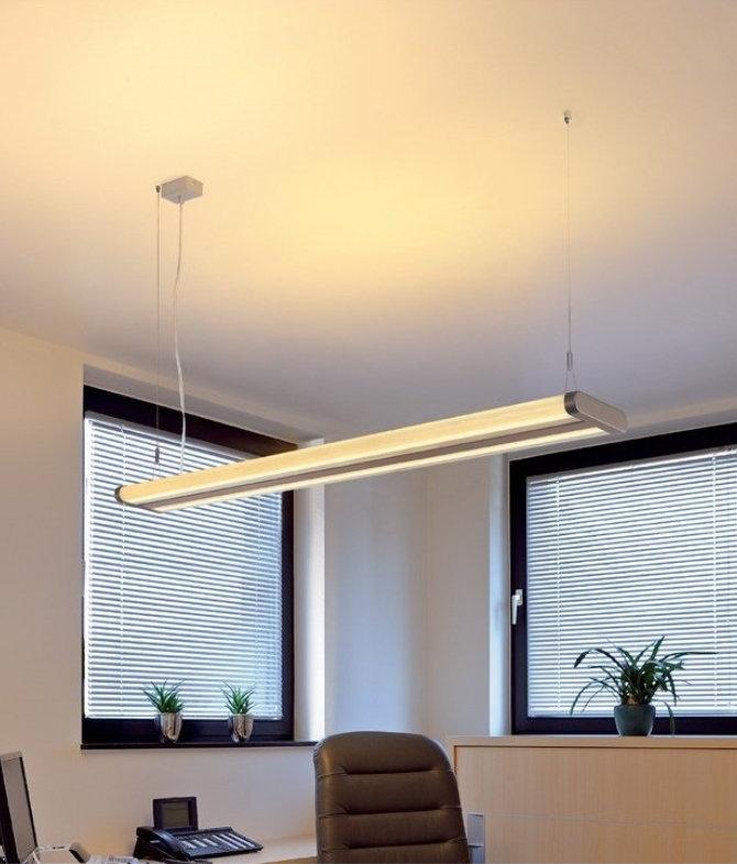 modern fluorescent suspension light slim profile