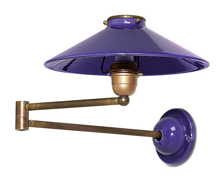 Ceramic Swing Arm Wall Light - Top Shade
