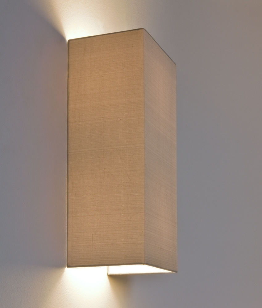Fabric Wall Lighting : Simple fabric tall wall light up down lighting white