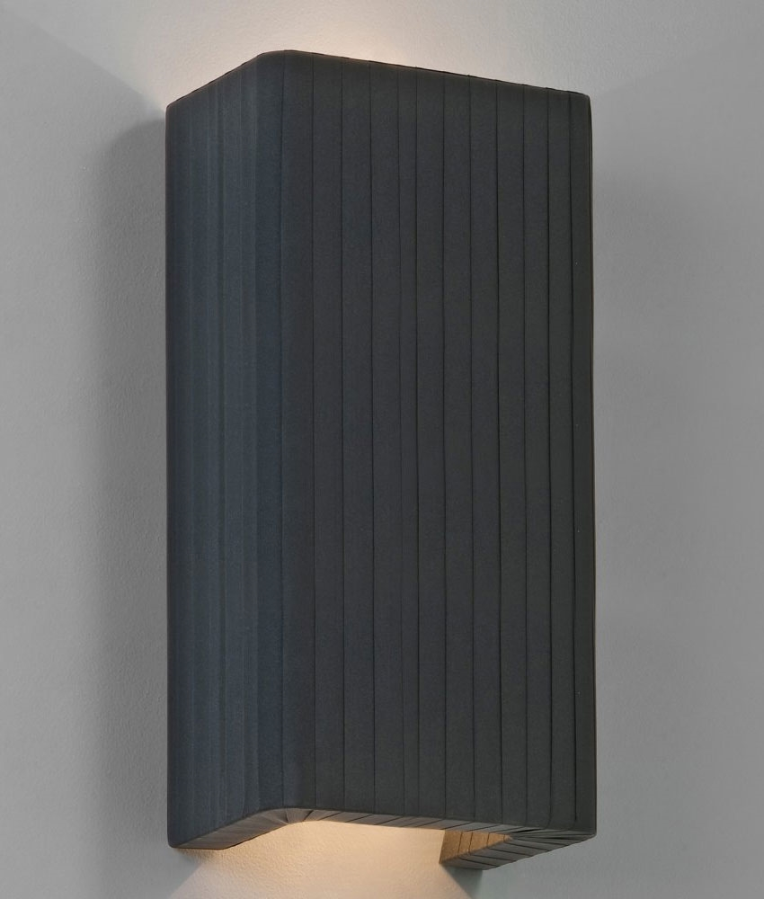 Wall Light Shades Only : Simple Fabric Wall Light - Tall Shade - Up & Down Lighting