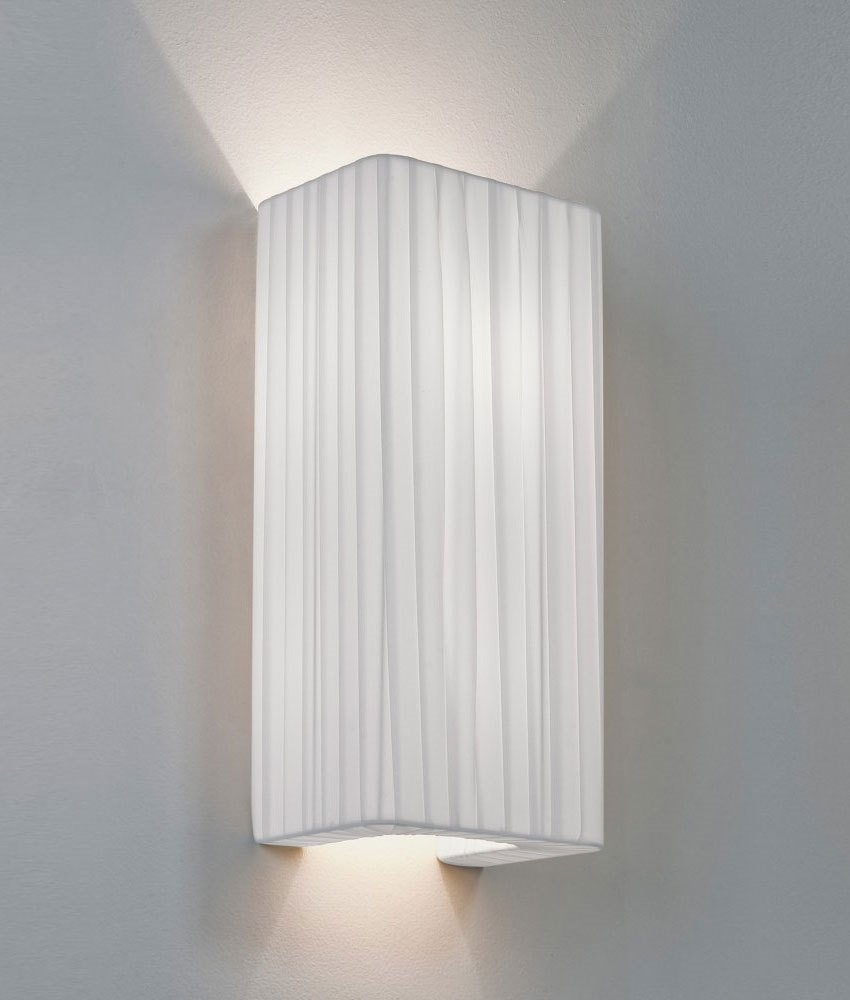 Wall Light Lamp Shades Fabric : Simple Fabric Wall Light - Tall Shade - Up & Down Lighting