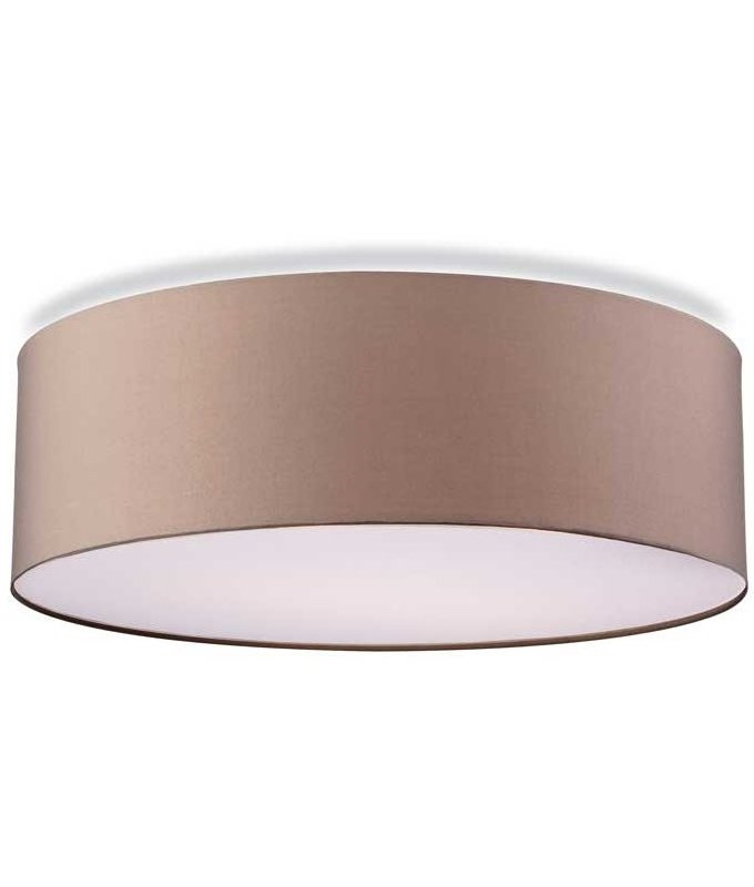 Fabric flush drum shade with bottom diffuser available with cream or taupe shade mozeypictures Gallery