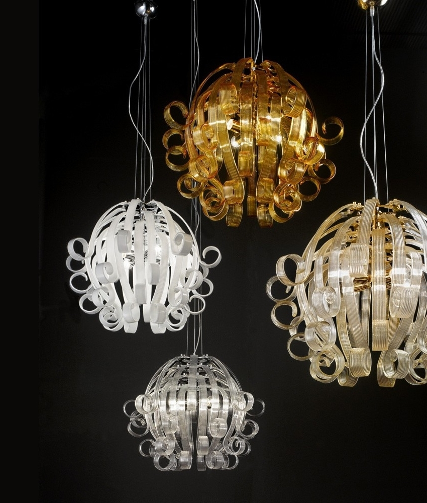 Chandelier Lighting Glass: Medusa Murano Glass Chandelier