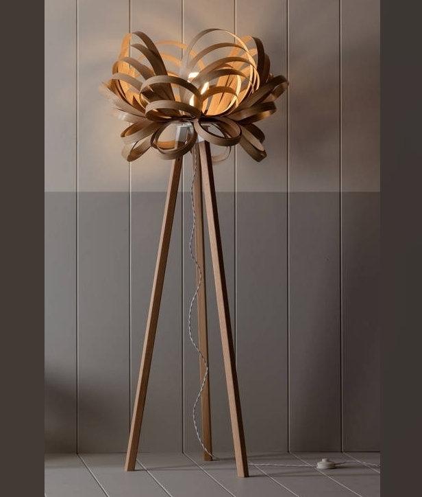 Wooden butterfly floor lamp tom raffield