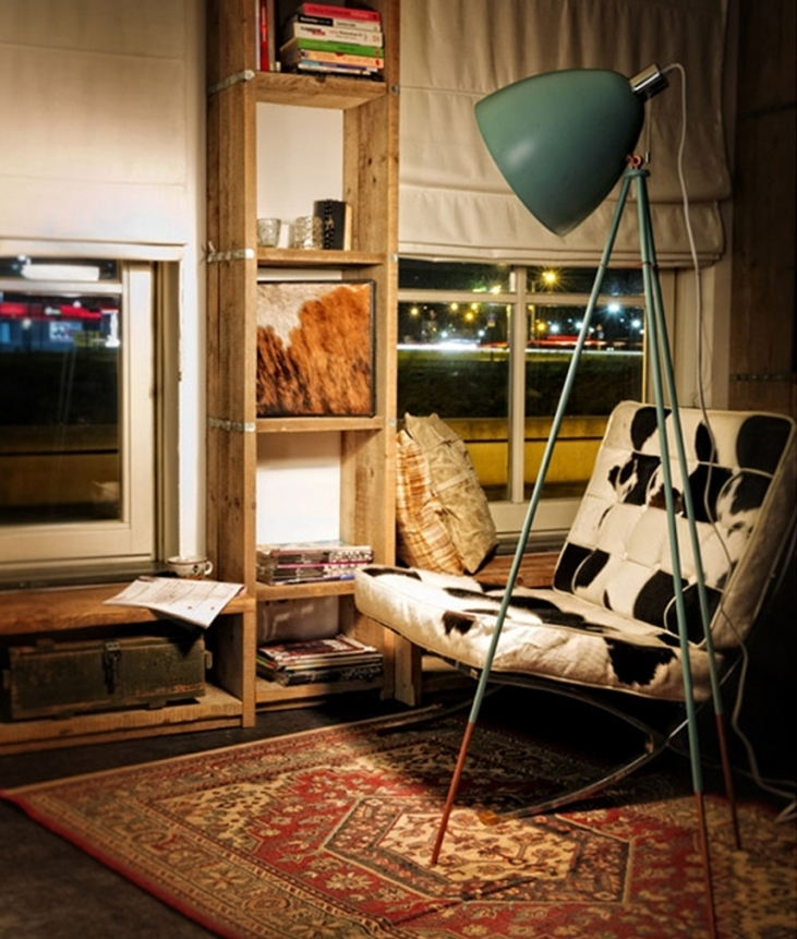 Vintage Tripod Floor Lamp In Three Finishes