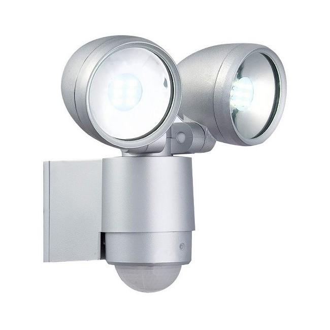 Modern Wall Mounted Exterior TWIN Spotlight with PIR Operation
