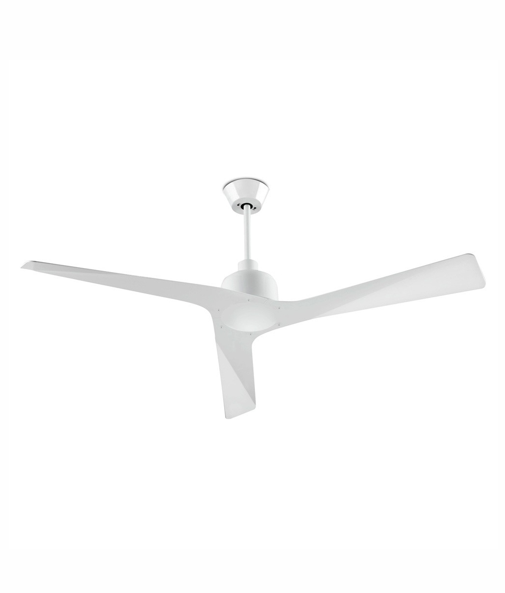 ultra modern white ceiling fan -