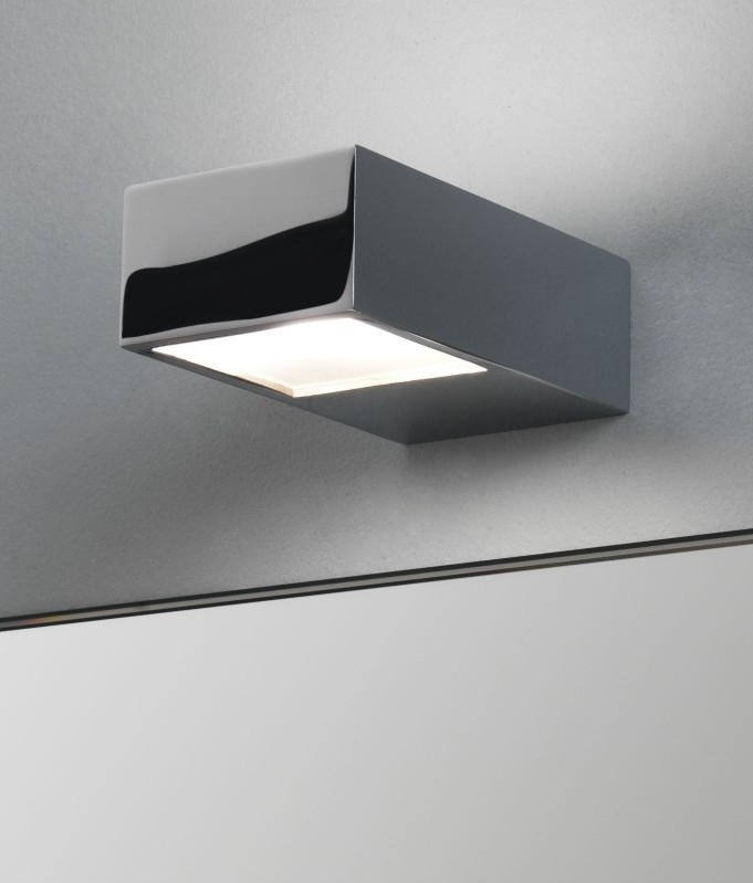 Mini chrome bright bathroom wall light hover to zoom mozeypictures Gallery