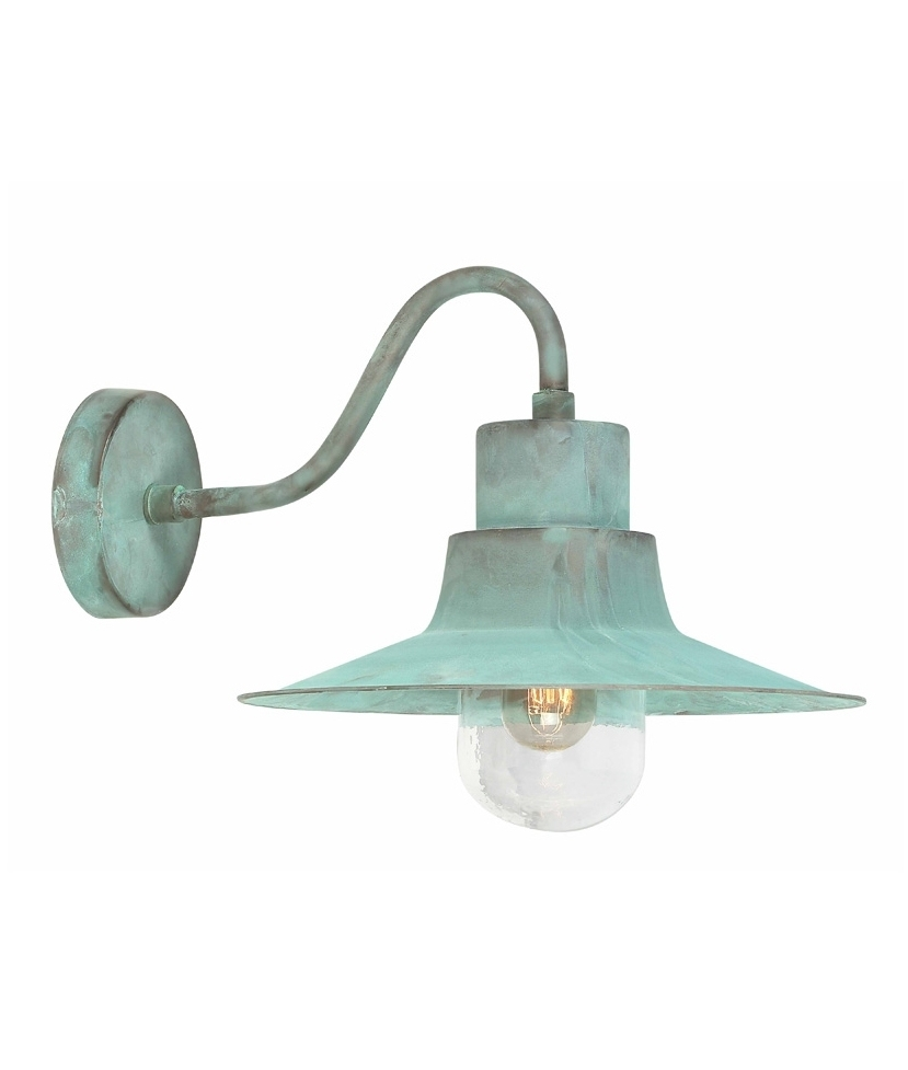 Verdigris Industrial Style Fisherman Wall Light