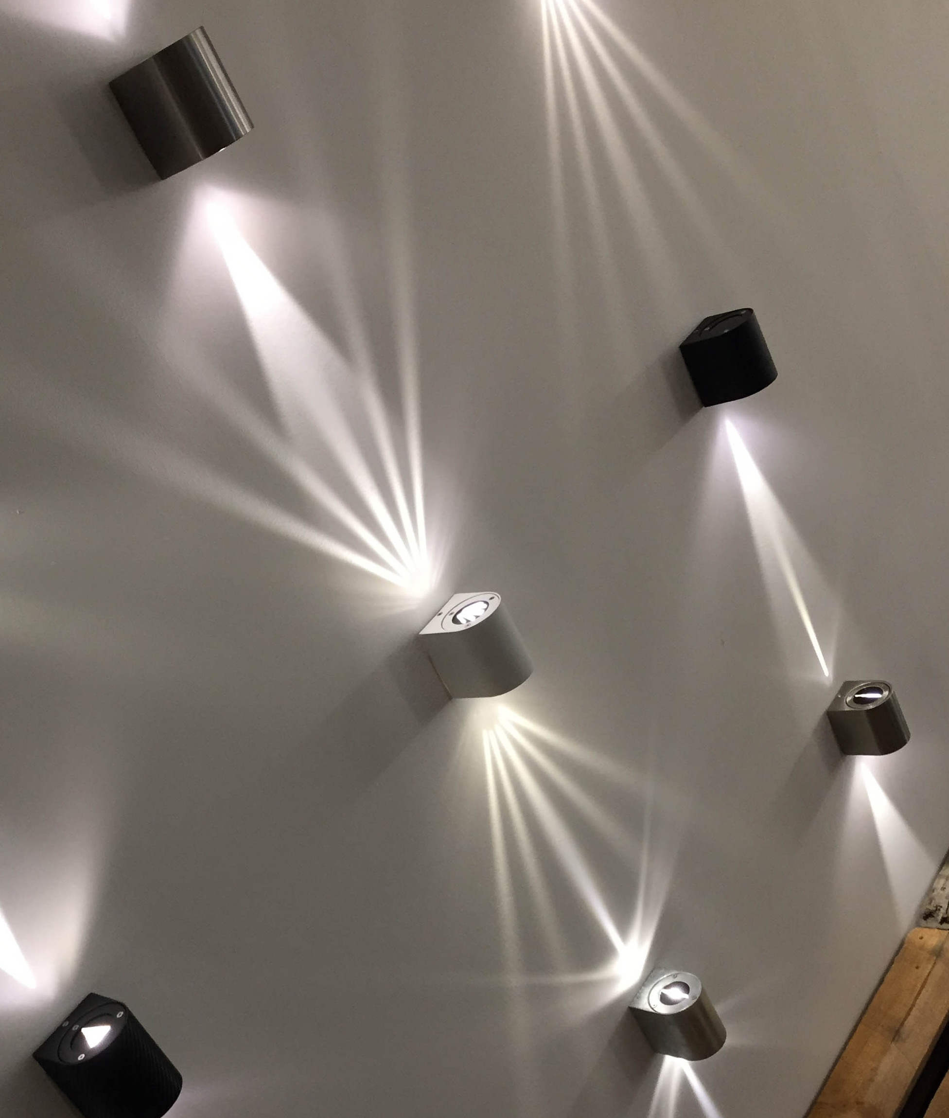 Very funky filtered wall lights in five finishes interior filters for wide narrow and starburst light effects aloadofball Images