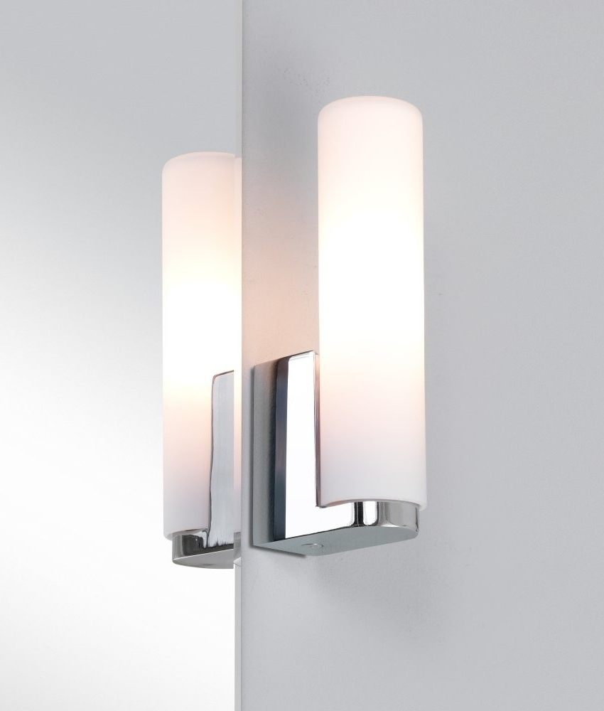 bathroom wall lighting uk bathroom tubular glass wall light 17122
