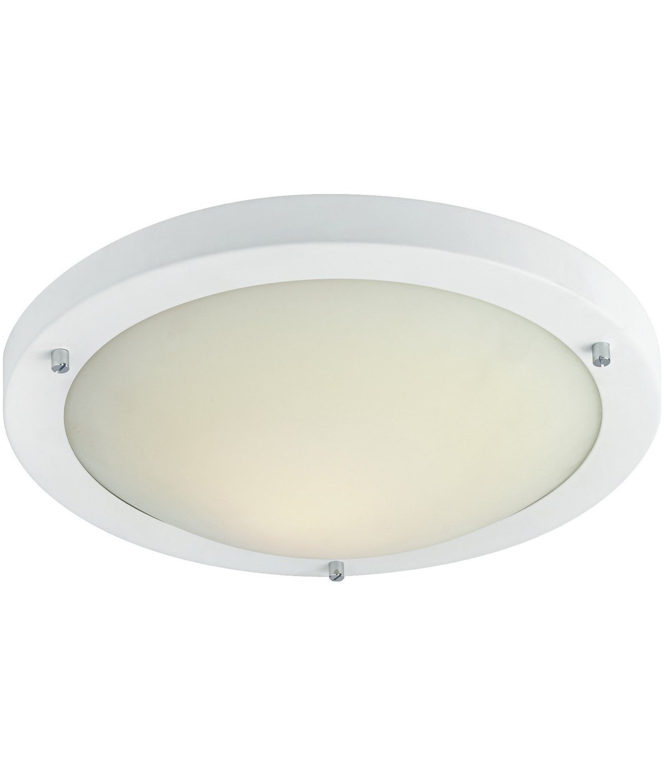 Types Of Ceiling Lights: Simple Flush Fitting With Choice Of Lamp Types