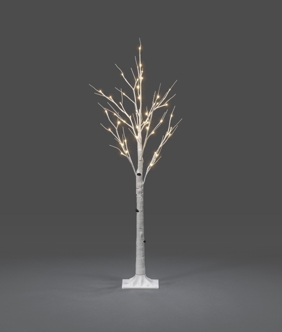 Simple Installation Indoor Illuminated White Birch Tree