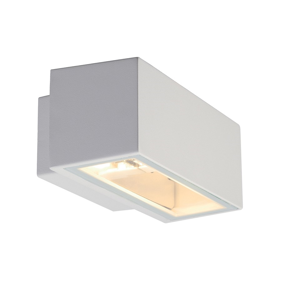 White Box Wall Lights : Modern Box Outdoor Wall Light with Up & Down Light Distribution
