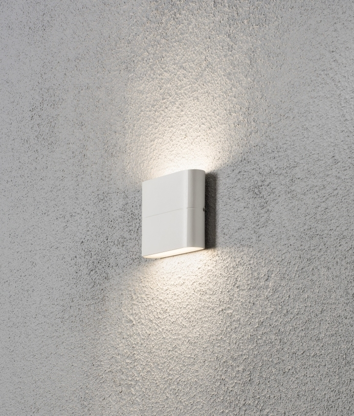Led Square Up And Down Wall Light Available In Two Sizes